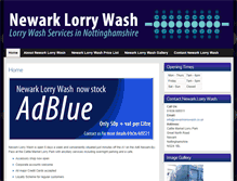 Tablet Preview of newarklorrywash.co.uk